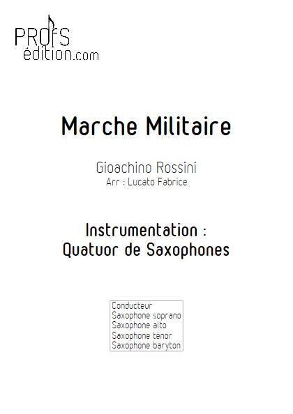 Marche militaire - Quatuor de Saxophones - ROSSINI G. - page de garde