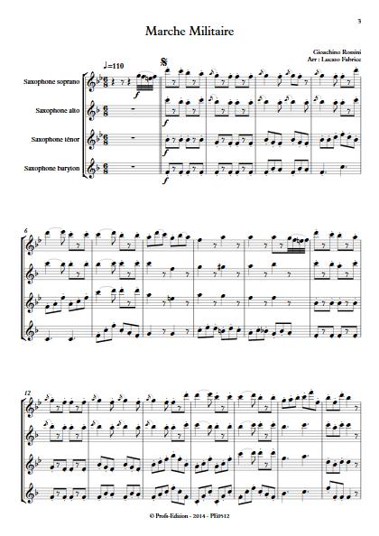 Marche militaire - Quatuor de Saxophones - ROSSINI G. - app.scorescoreTitle