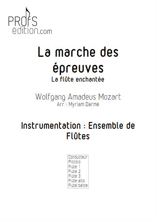 Marche des épreuves - Ensemble de Flûtes - MOZART W.A. - page de garde