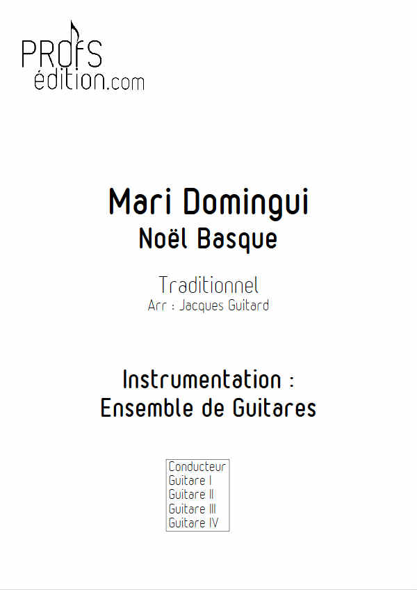 Mari Domingui - Ensemble Guitares - GUITARD J. - page de garde