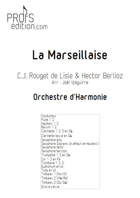 La Marseillaise - Orchestre d'Harmonie - ROUGET DE LISLE C. J. - page de garde