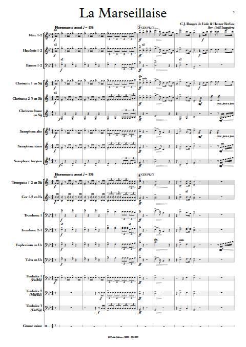La Marseillaise - Orchestre d'Harmonie - ROUGET DE LISLE C. J. - app.scorescoreTitle