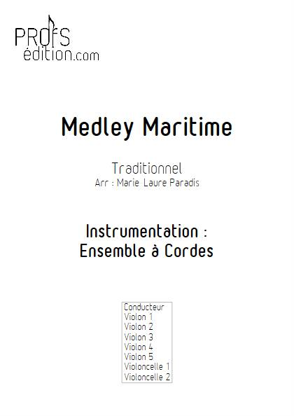 Medley Maritime - Ensemble à Cordes - TRADITIONNEL - page de garde