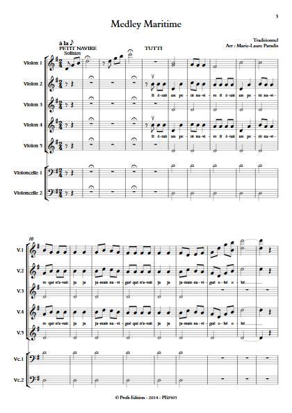 Medley Maritime - Ensemble à Cordes - TRADITIONNEL - Partition