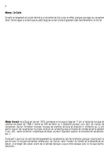 Mexican Hat Dance (Jarabe Tapatio) - Ensemble de Saxophones - RUBIO J. G. - Fiche Pédagogique