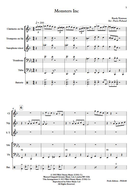 Monstres et Cie - Fanfare - NEWMAN R. - Partition