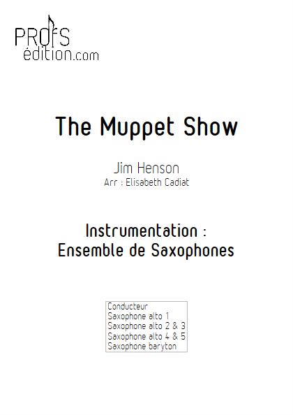 The Muppet Show - Ensemble de Saxophones - HENSON J. - page de garde