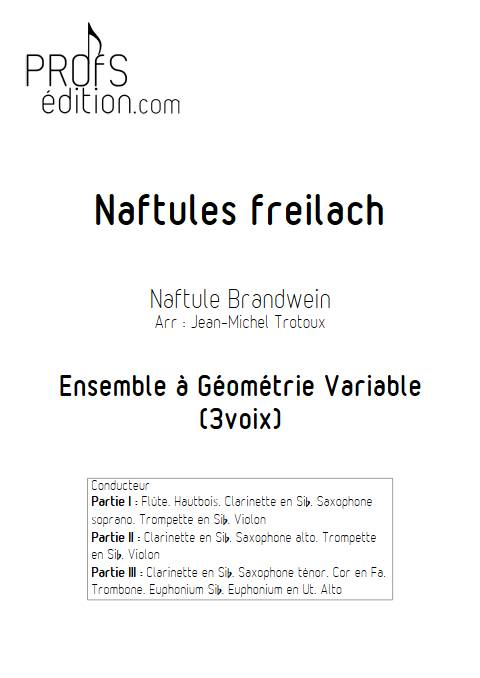 Naftules Freilach - Ensemble Variable - TRADITIONNEL KLEZMER - page de garde