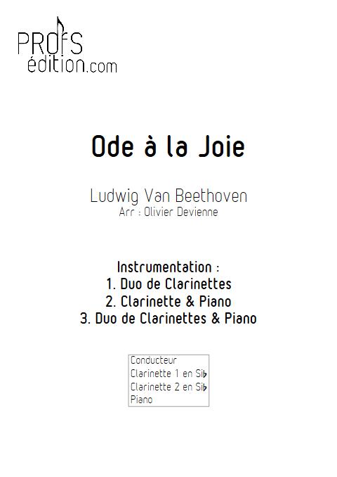 Ode à la joie - Duos, Trio - BEETHOVEN L. V. - page de garde