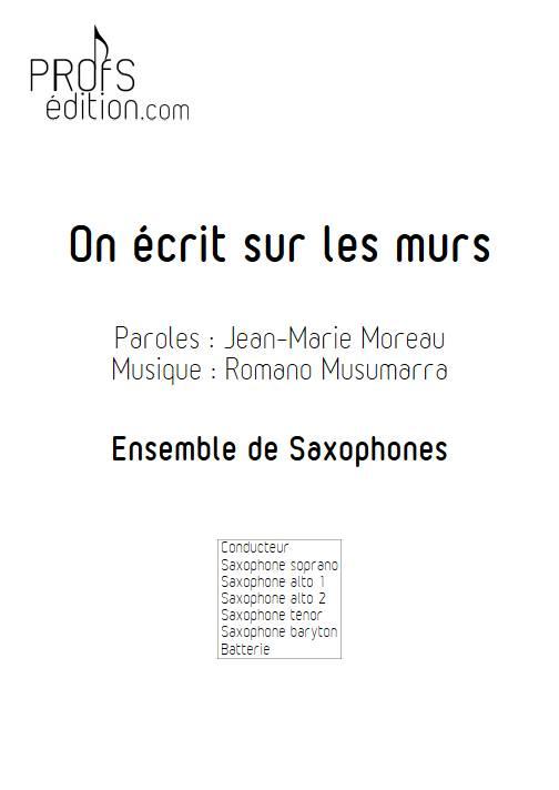 On écrit sur les murs - Ensemble de Saxophones - MUSUMARRA R. - page de garde