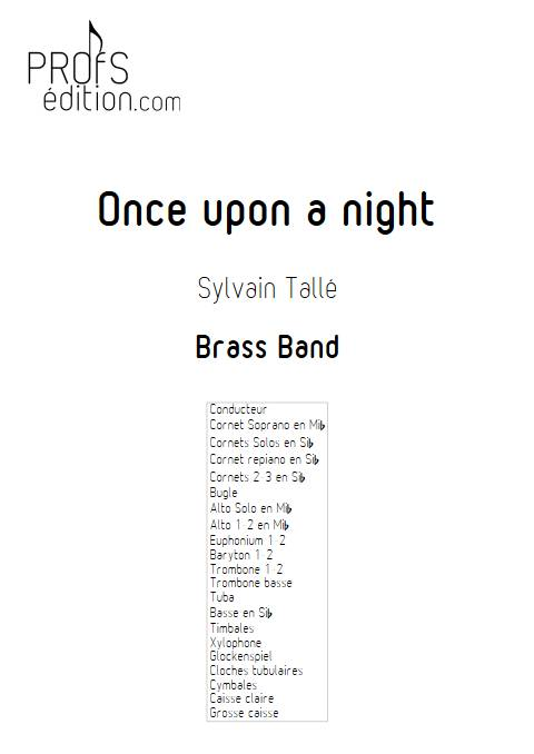 Once upon a night - Brass Band - TALLE S. - page de garde