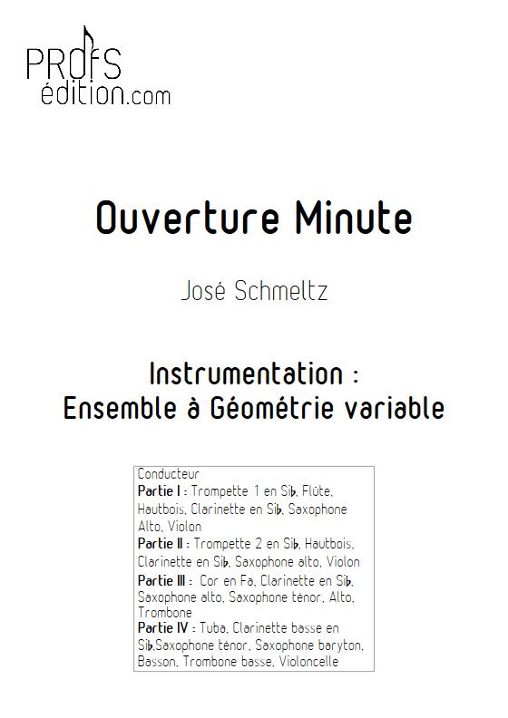 Ouverture Minute - Ensemble à Géométrie Variable - SCHMELTZ J. - page de garde