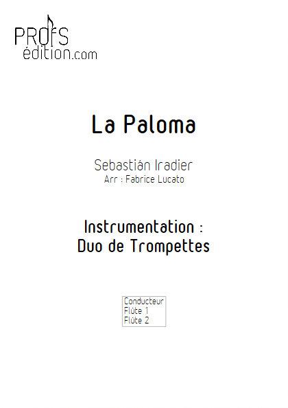 La Paloma - Duo de Flûtes - IRADIER S. - page de garde