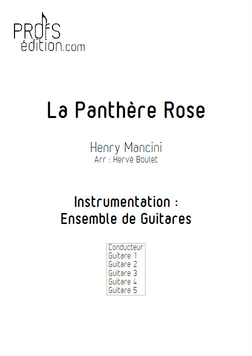 La Panthère Rose - Ensemble de Guitares - MANCINI H. - page de garde