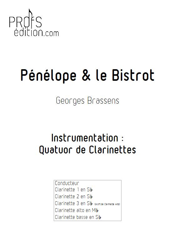 Pénélope & Le Bistrot - Quatuor de Clarinettes - BRASSENS G. - page de garde