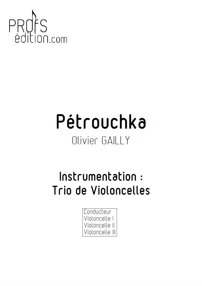 Petrouchka - Trio Violoncelles - TRADITIONNEL - page de garde