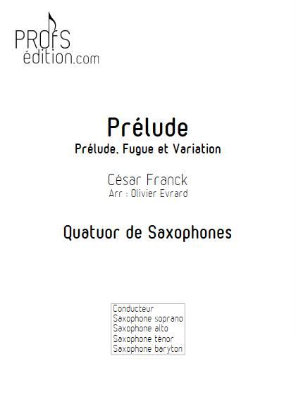 Prelude - Quatuor de Saxophones - FRANCK C. - page de garde
