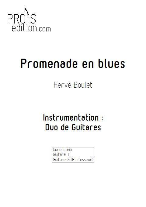 Promenade en Blues - Duo de Guitares - BOULET H. - page de garde