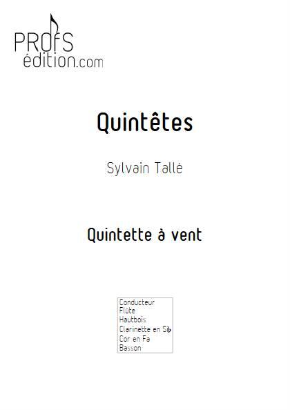 Quintêtes - Quintette à vent - TALLE S. - page de garde