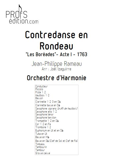 Contredanse en Rondeau - Orchestre d'Harmonie - RAMEAU J-P. - page de garde