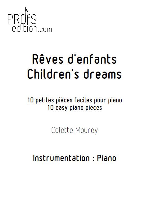 Rêves d'enfants - Piano - MOUREY C. - page de garde