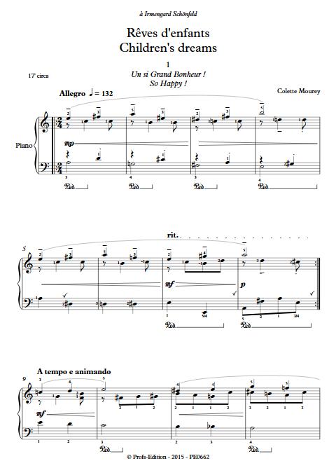 Rêves d'enfants - Piano - MOUREY C. - Partition