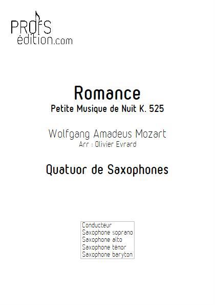 Romance - Quatuor de Saxophones - MOZART W. A. - page de garde