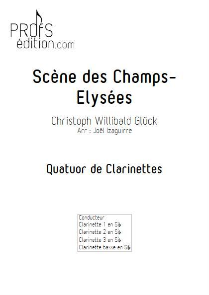 Scène des champs elysées - Quatuor de Clarinettes - GLUCK W. - page de garde