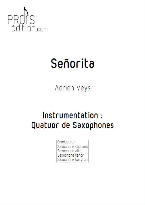 Señorita - Quatuor de Saxophones - VEYS A. - page de garde