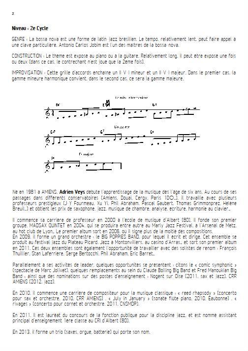 Señorita - Quatuor de Saxophones - VEYS A. - Fiche Pédagogique
