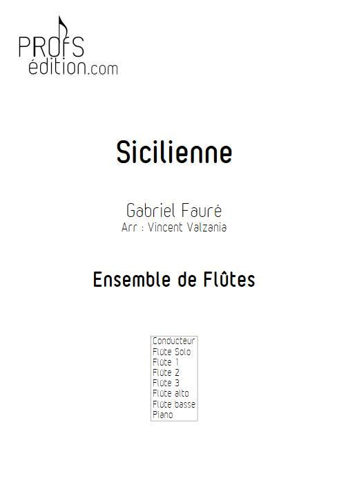 Sicilienne - Ensemble de Flûtes - FAURE G. - page de garde