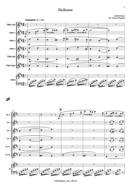 Sicilienne - Ensemble de Flûtes - FAURE G. - app.scorescoreTitle