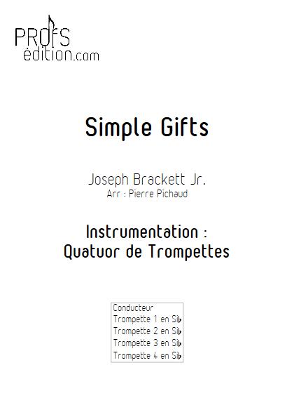 Simple Gifts - Quatuor de Trompettes - BRACKETT J. - page de garde
