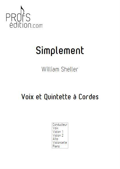 Simplement - Chant et Quintette à Cordes - SHELLER W. - page de garde
