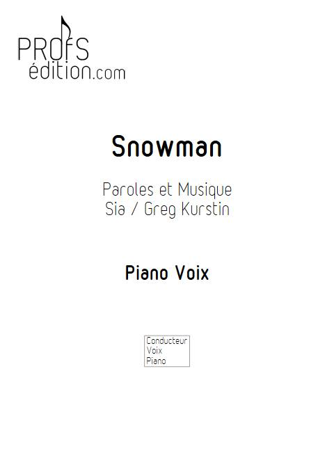Snowman - Piano voix - SIA - page de garde