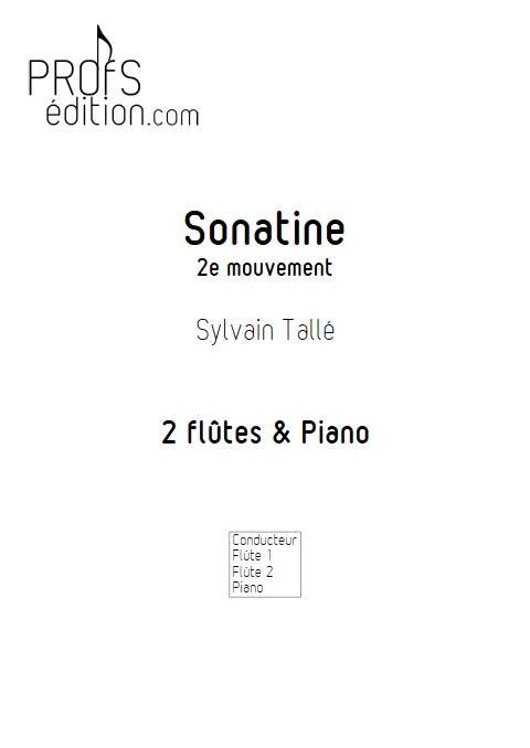 Sonatine - 2e mvt - Trio Flûtes Piano - TALLE S. - app.scorescoreTitle