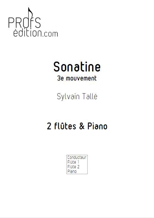 Sonatine - 3e mvt - Trio Flûtes Piano - TALLE S. - page de garde