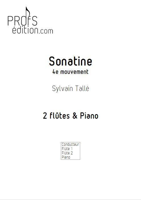 Sonatine - 4e mvt - Trio Flûtes Piano - TALLE S. - page de garde