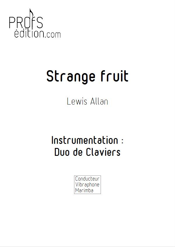 Strange Fruit - Duo Vibraphone Marimba- ALLAN L. - page de garde