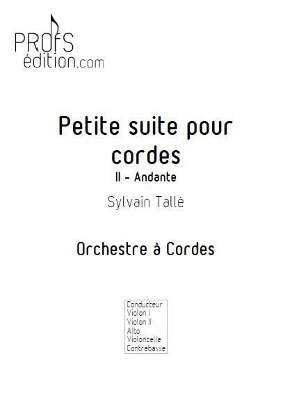 Petite suite pour cordes - 2e mvt - Orchestre à cordes - TALLE S. - page de garde