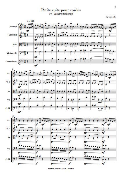 Petite suite pour cordes - 4e mvt - Orchestre à cordes - TALLE S. - app.scorescoreTitle