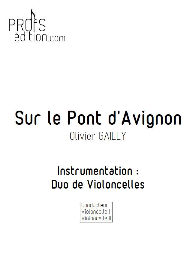 Sur le Pont d'Avignon - Duo Violoncelles - TRADITIONNEL - page de garde