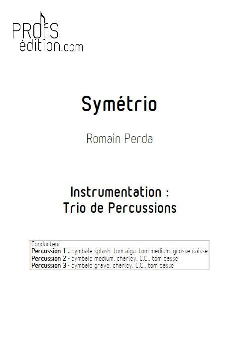 Symétrio - Trio de Percussions - PERDA R. - page de garde