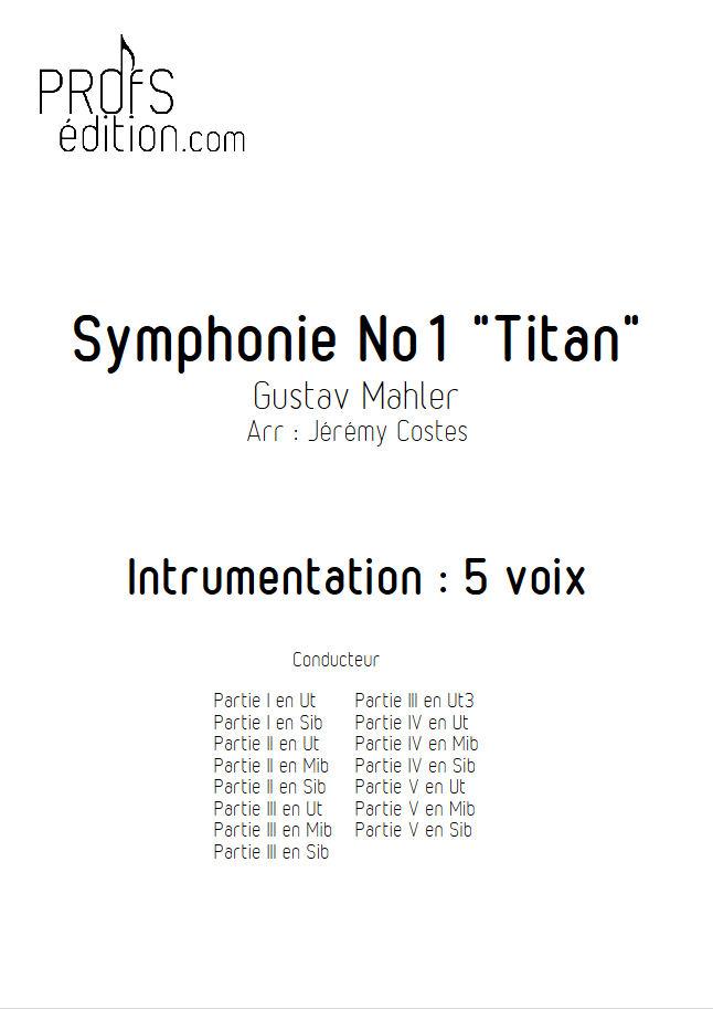 Symphonie n°1 le Titan - Ensemble Géométrie Variable - MAHLER G. - page de garde