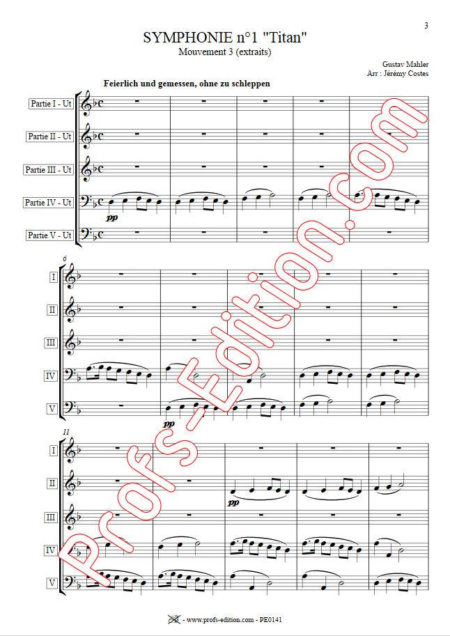 Symphonie n°1 le Titan - Ensemble Géométrie Variable - MAHLER G. - app.scorescoreTitle