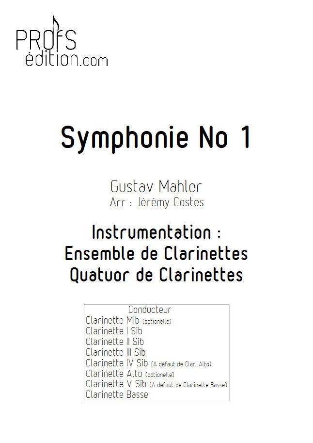 Symphonie n°1 le Titan - Quatuor Clarinettes - MAHLER G. - page de garde