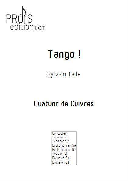 Tango ! - Quatuor de Cuivres - TALLE S. - page de garde