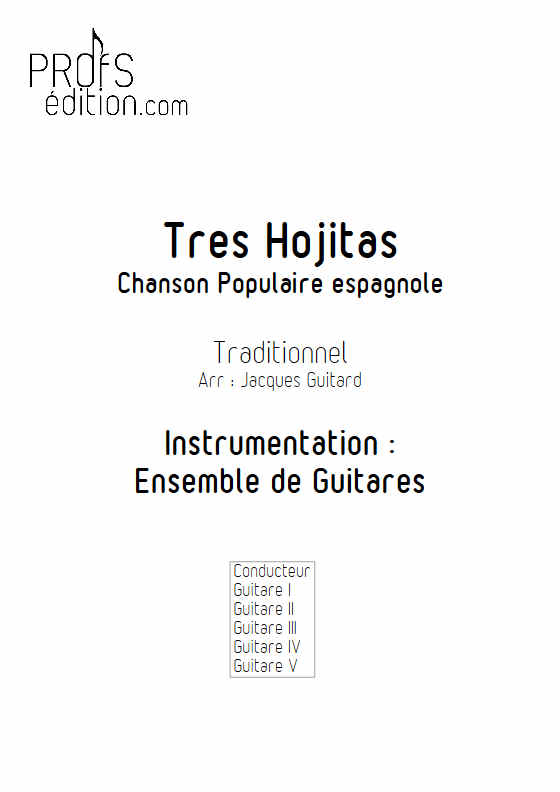 Tres Hojitas - Ensemble Guitares - TRADITIONNEL ESPAGNOL - page de garde