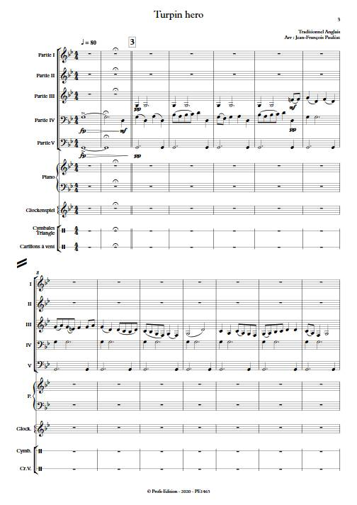 Turpin Hero - Ensemble Variable - TRADITIONNEL ANGLAIS - app.scorescoreTitle