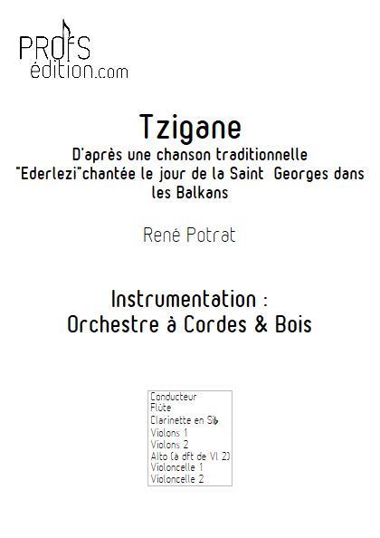 Tzigane - Orchestre Symphonique - POTRAT R. - page de garde